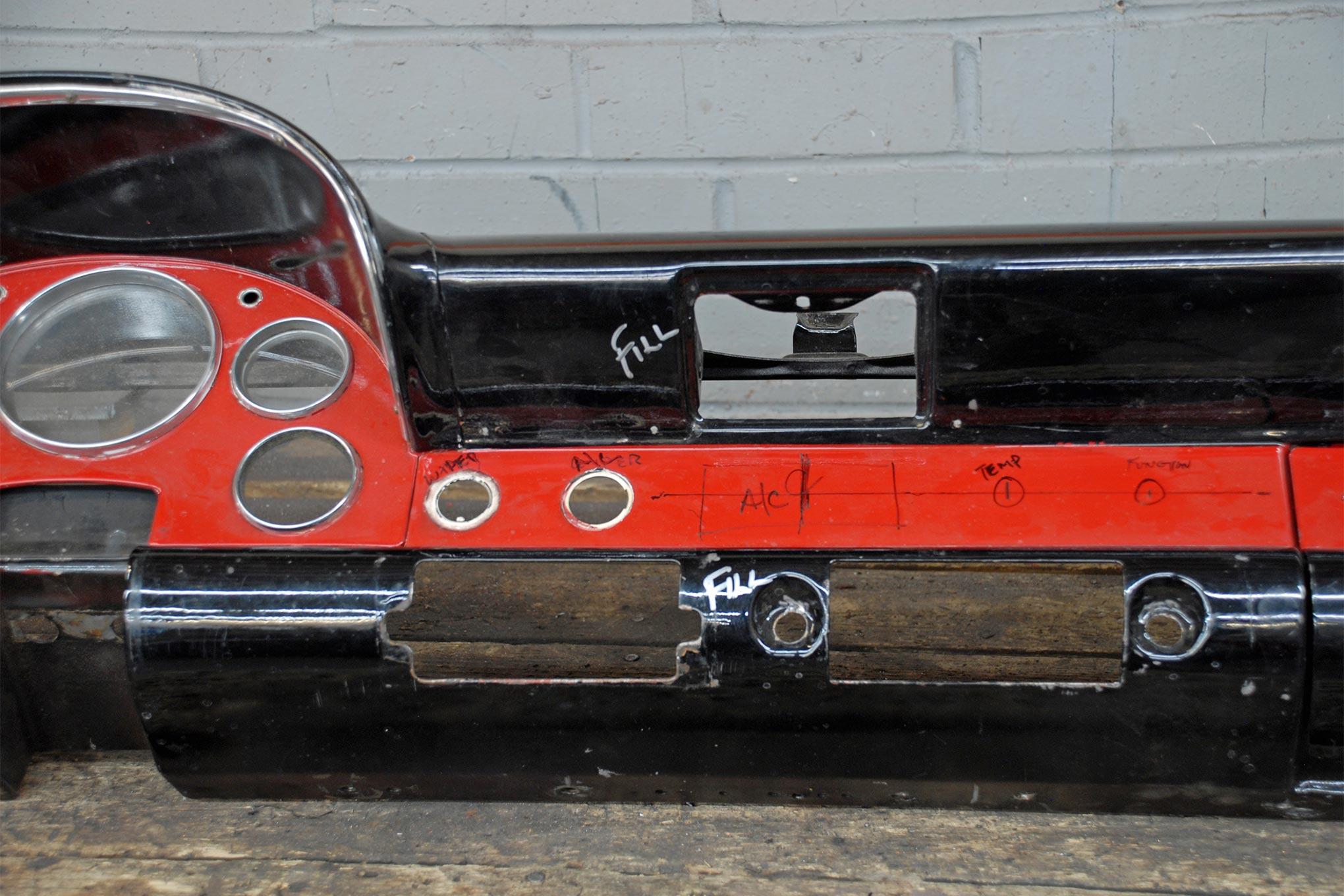 1956 Ford Fairlane Victoria Dashboard Gets The Custom