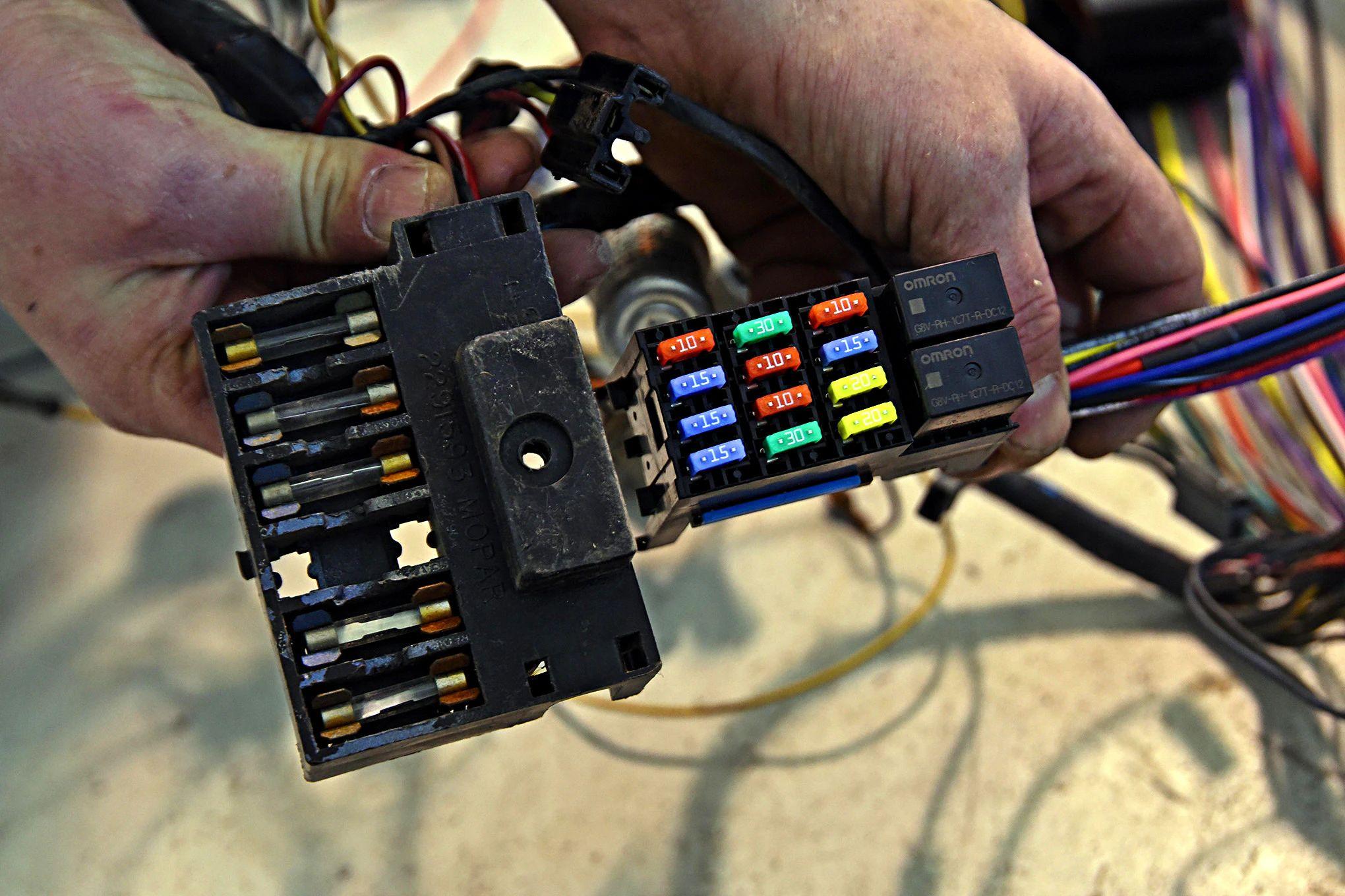 1966 plymouth barracuda fuse box wiring