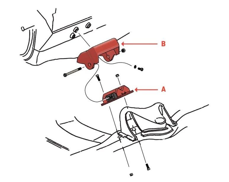 350 chevy motor mount diagram