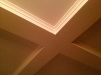 Simple coffered ceiling
