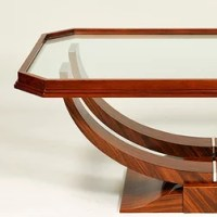 Antiqued Art Deco Coffee Table Contemporary Coffee ...