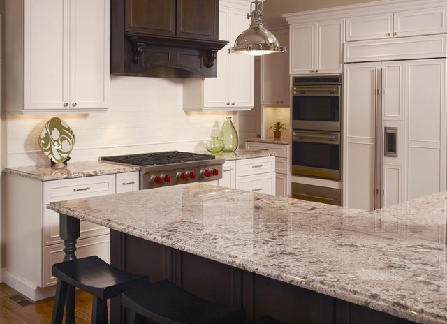 antico bianco granite with light dark cabinets Google Image Result