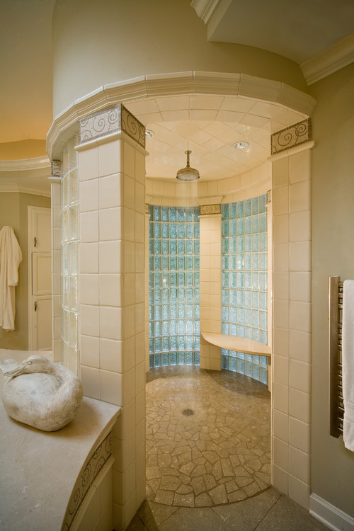 Houzz Showers No Door Rain Shower