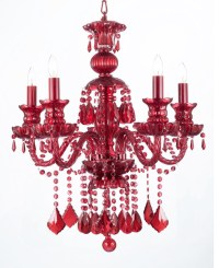 Ruby Red Crystal chandelier Lighting - Traditional ...