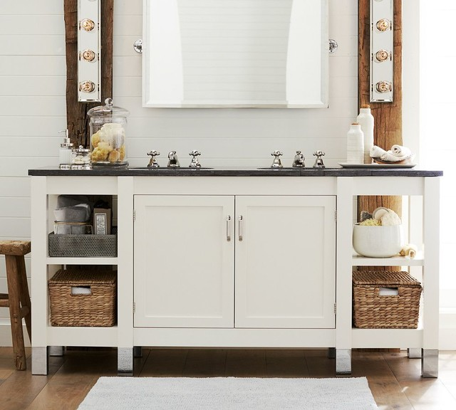 Napa Double Sink Console With Limestone