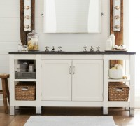 Napa Double Sink Console With Limestone - Traditional ...