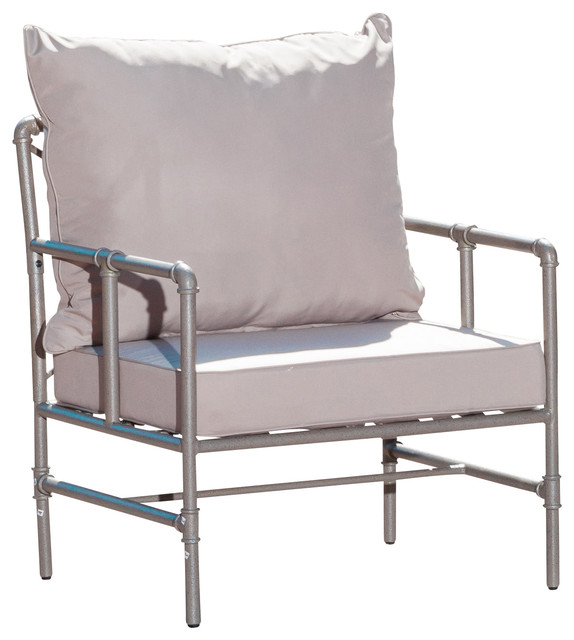 Tallahassee outdoor pipe grey armchair contemporary