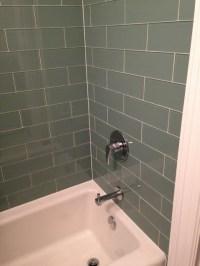 Seaside 4x12 Glass Subway Tile Bathroom - Contemporary ...