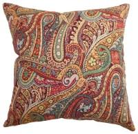 Wanda Paisley Pillow - Traditional - Decorative Pillows ...