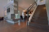 Urban modern 90 degree edge custom staircase
