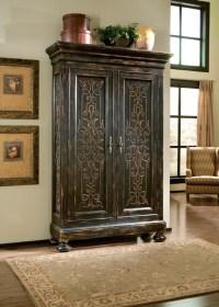 Scrolling Gate Armoire - Mediterranean - Living Room ...
