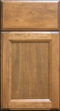 Clear Pine Shaker Cabinet Door with Solid Drawer Front ...