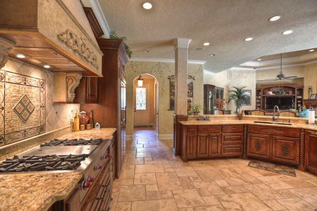 kings lake custom home mediterranean kitchen metro nj custom homes builder contractor kevo developement designs