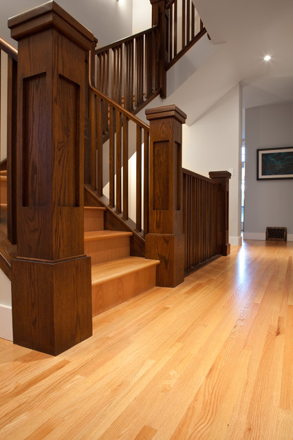 Outdoor Lighting Houzz Wood Railing - Craftsman - Staircase - Edmonton - By