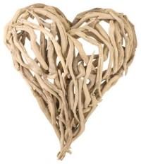 Driftwood Heart Wall Art eclectic-artwork