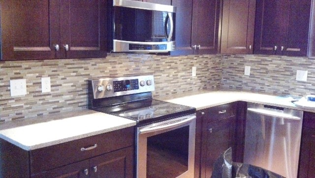 cherry cabinets mosaic backsplash traditional kitchen kitchen backsplash ideas cherry cabinets cherry kitchen cabinets