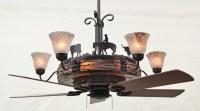 Ceiling fan chandelier - Rustic - albuquerque - by Kiva ...