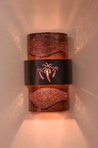 Copper Palm Tree Sconce - Tropical - Wall Sconces - austin ...