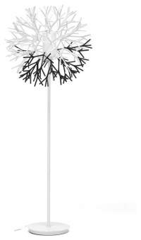 Twigg White and Black Modern Floor Lamp - Contemporary ...