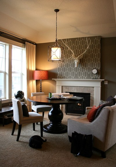 Modern Earth Design: How To Decorate A Tall Fireplace Wall