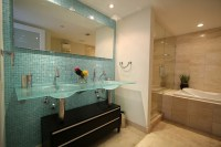 Accent Tile Wall in Bathroom - Modern - Bathroom - miami ...