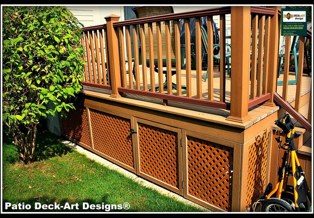 Patio Decks With Pools PATIO DECK-ART DESIGNS OUTDOOR LIVING - Contemporary - Patio - montreal - by Patio Deck-Art