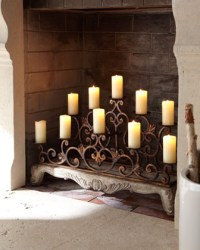 Orante Fireplace Candelabra - Traditional - Candles And ...