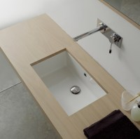 Rectangular White Ceramic Undermount Sink - Contemporary ...