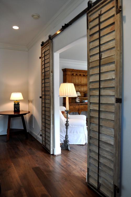 Louvered barn doors