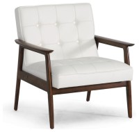 Stratham White Midcentury Modern Club Chair - Modern ...
