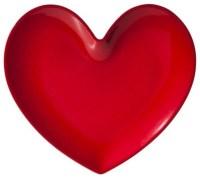 Red Glitter Heart Dinner Plate - Eclectic - Dinner Plates ...