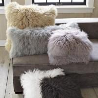 Mongolian Lamb Pillow Cover - Contemporary - Decorative ...