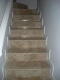 Travertine Tile Steps