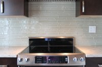Sheep's Wool Beige Linear Glass Mosaic Tile Kitchen ...