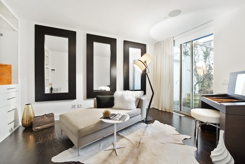Bureau Professionnel Nice Inspiration: Big Black-framed Mirrors