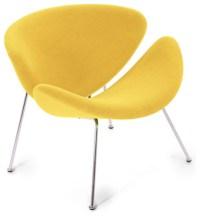 Easy Chair, Lysergic Yellow Fabric - Midcentury ...