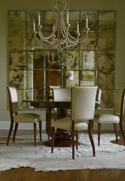 decorate dining rooms with large room mirrors