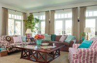 Hamptons Style House - Transitional - Family Room - los ...
