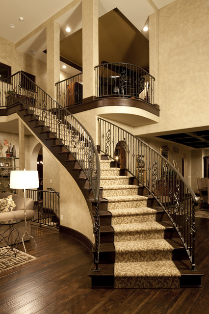 Dream Home Great Rm Traditional Staircase