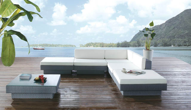 Paeonia Outdoor Sofa Set Modern Outdoor Lounge Sets