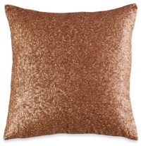 Vince Camuto Rose Gold Square Toss Pillow - Contemporary ...