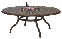 Darlee Series 60 Cast Aluminum Round Tea Patio Table with ...