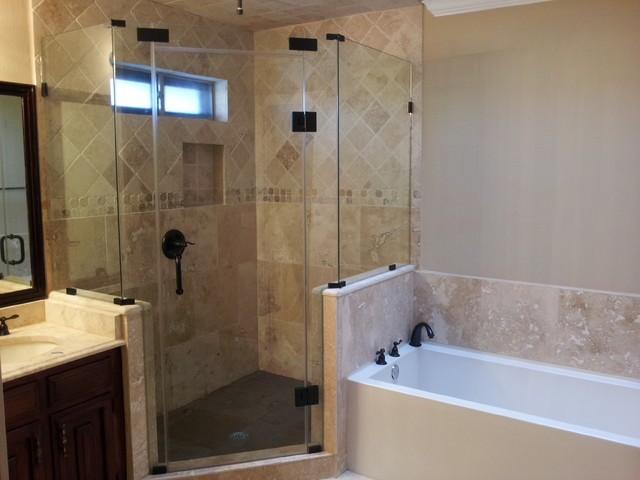 Houzz Showers Frame Less Shower Enclosure