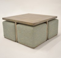 Alton coffee table with hidden additional seating - Beach ...