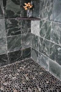 Island Stone Java grey perfect pebble floor 2 - Bathroom ...