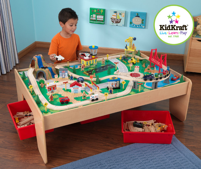 Kids Toy Train Kidkraft Waterfall Mountain Train Set And