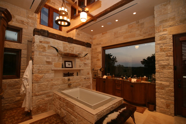 Rustic Texas Themed Furniture flat rock creek ranch - Rustic - Bathroom - dallas - by John Lively & Associates