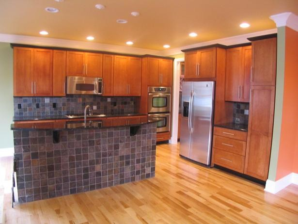 cherry cabinets slate backsplash traditional kitchen kitchen backsplash ideas cherry cabinets cherry kitchen cabinets