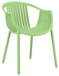 Hammock Green Plastic Stackable Outdoor Modern Dining ...