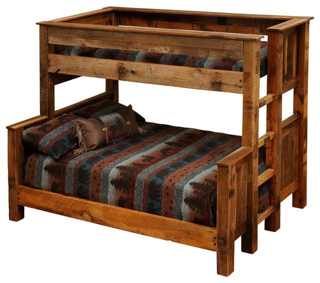 Barnwood Beds Twin Over Queen Barnwood Bunk Beds Rustic